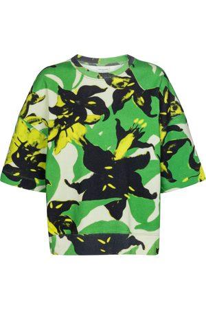 DRIES VAN NOTEN Floral cotton jersey sweatshirt