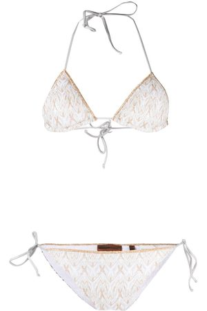 Missoni Metallic threading bikini set