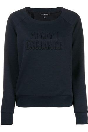 Armani Women Sweaters - Logo embossed jumper
