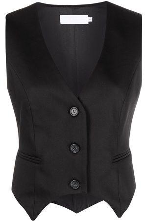 RAQUETTE V-neck buttoned waistcoat
