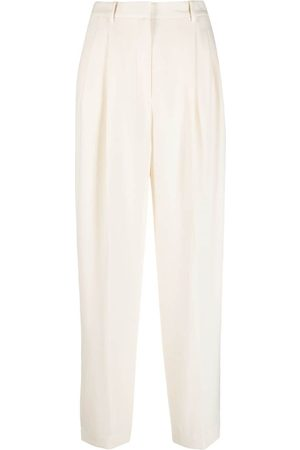 Tory Burch High-waisted crepe trousers - Neutrals