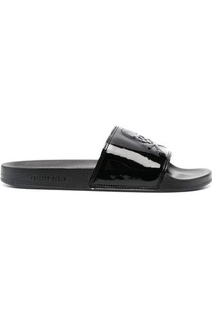 Philipp Plein Skull-embossed slides