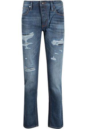 Emporio Armani Men Straight - Distressed straight leg jeans