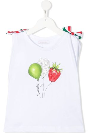 MONNALISA Girls Tank Tops - Balloon print sleeveless top