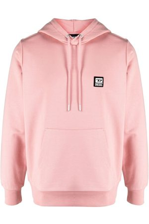 Diesel Men Hoodies - Logo-patch cotton-blend hoodie