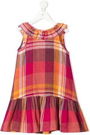 Il gufo Check print linen dress