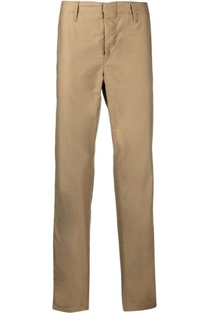 Incotex Slim-fit satin cotton tapered trousers - Neutrals