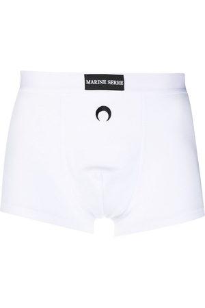 Marine Serre Ribbed stretch-organic cotton boxers