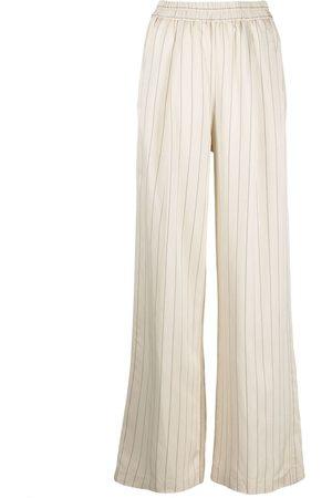 NUDE Stripe-print wide-leg trousers