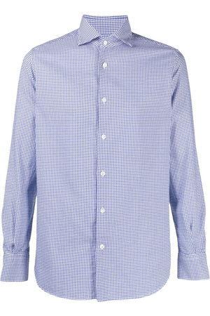 Glanshirt Men Shirts - Check-print button-up shirt