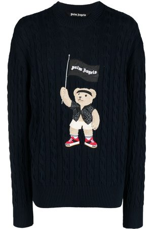 Palm Angels Pirate Bear cable knit jumper
