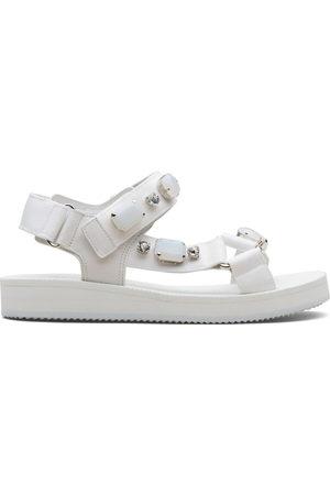 CAR SHOE Crystal-embellished sandals