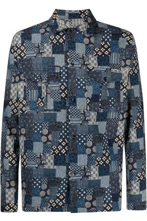 Glanshirt Patchwork-print cotton shirt