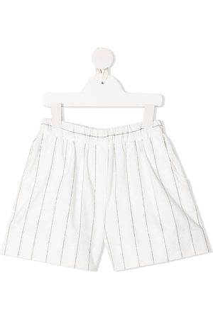 Brunello Cucinelli Stripe-print elasticated shorts
