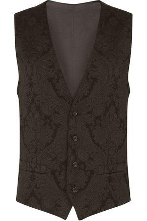 Dolce & Gabbana Floral jacquard single-breasted waistcoat