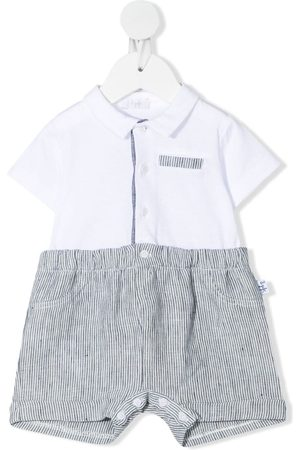 Il gufo Baby Rompers - Striped shorties