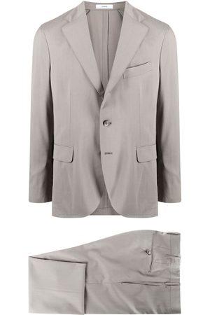 Boglioli Single-breasted virgin wool suit - Grey