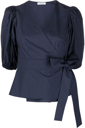 P.a.r.o.s.h. Puff-sleeve wrap blouse