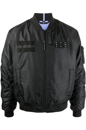 McQ Logo patch bomber jacket