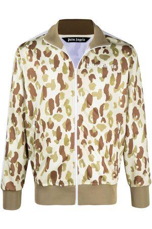 Palm Angels Men Jackets - Camouflage-print track jacket - Neutrals