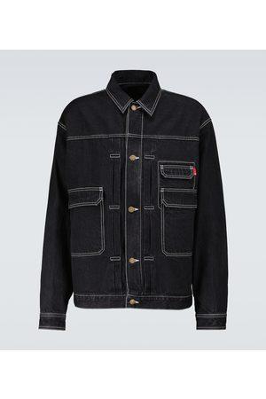 UNDERCOVER Men Denim Jackets - Buttoned denim blouson jacket