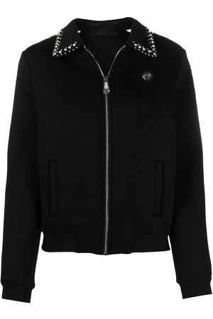 Philipp Plein Logo zipped bomber jacket