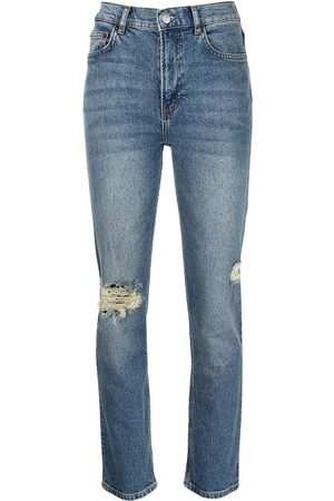 Reformation Women High Waisted - High-rise distressed jeans