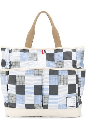 Thom Browne Men Bags - Patchwork garden tote bag - Grey