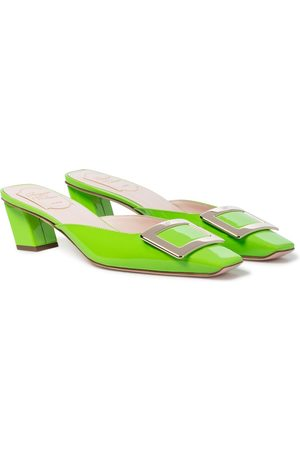 Roger Vivier Belle Vivier 45 patent leather mules