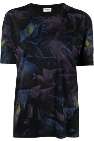 Saint Laurent Women T-shirts - Tie-dye print logo T-shirt