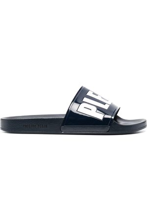 Philipp Plein Two-tone logo-print slides