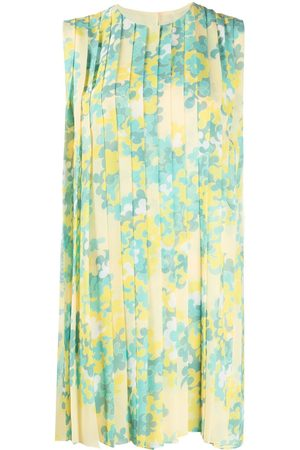 Emilio Pucci Ortensie-print pleated georgette dress