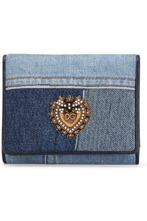 Dolce & Gabbana Women Wallets - Devotion patchwork denim wallet