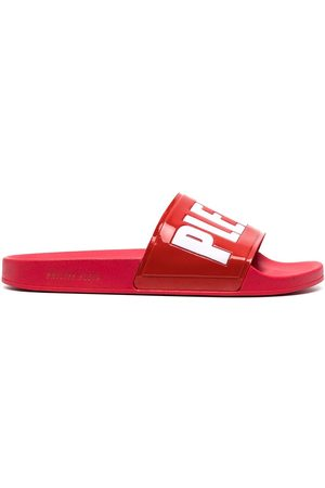 Philipp Plein Men Sandals - Logo-print slides