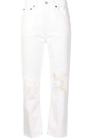 AGOLDE Women Straight - Riley cropped straight-leg jeans