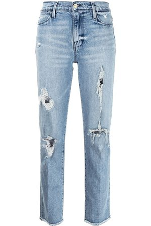 Frame Ripped slim-fit jeans