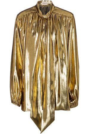 ALEXANDRE VAUTHIER Lavallière silk-blend blouse