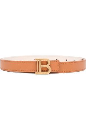 Balmain Women Belts - Logo-plaque buckle-fastening belt