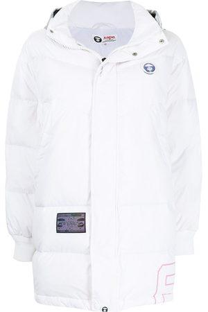 AAPE BY A BATHING APE Logo hooded coat