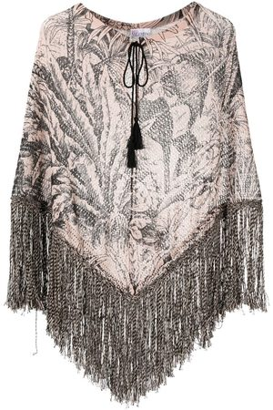 RED Valentino Jungle print knitted poncho - Neutrals