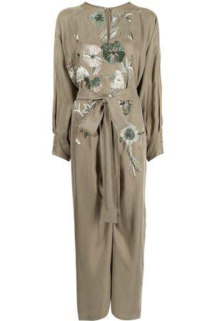 SHATHA ESSA Floral-embellished jumpsuit