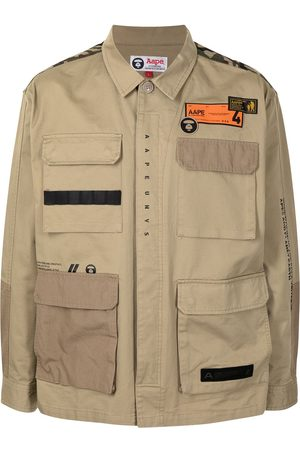 AAPE BY A BATHING APE Men Shirts - Logo patch shirt jacket