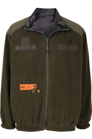 AAPE BY A BATHING APE Shell-panelled fleece jacket - KHX