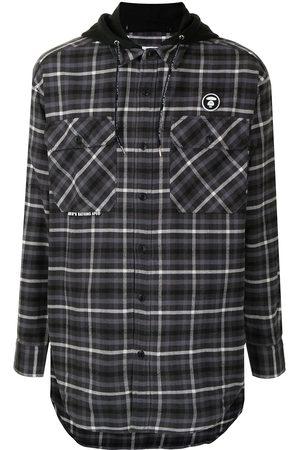 AAPE BY A BATHING APE Men Casual - Check-print flannel shirt
