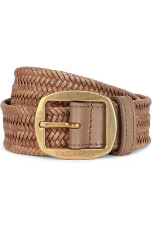 Dolce & Gabbana Chevron woven logo buckle belt