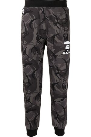 AAPE BY A BATHING APE Camouflage logo print track pants