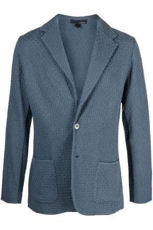 LARDINI Men Blazers - Textured single-breasted blazer