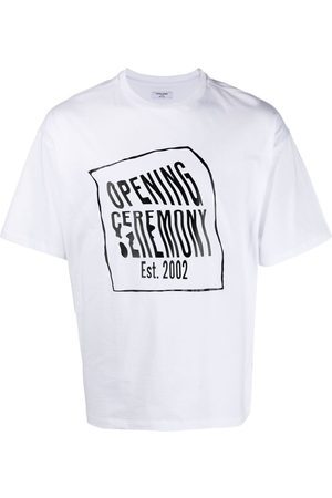 Opening Ceremony Warped-logo cotton T-Shirt