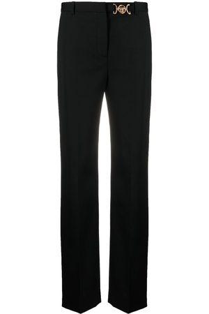 VERSACE Women Formal Pants - Logo-plaque tailored trousers