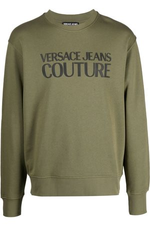 VERSACE Logo-print cotton sweatshirt